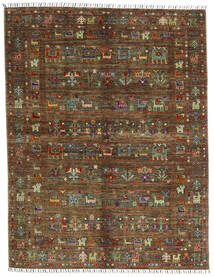 Shabargan .L Tappeto 156X201 Moderno Fatto A Mano Marrone Scuro/Marrone (Lana, Afghanistan)