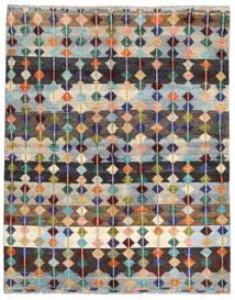 Moroccan Berber - Afghanistan Tappeto 195X220 Moderno Fatto A Mano Grigio Chiaro/Blu Scuro (Lana, Afghanistan)