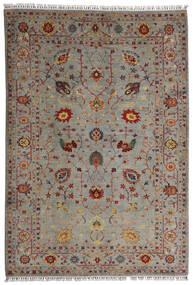 Shabargan Tappeto 208X304 Moderno Fatto A Mano Grigio Chiaro/Marrone Chiaro (Lana, Afghanistan)