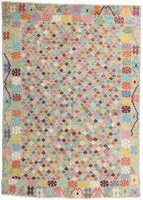 Kilim Afghan Old Style Tappeto 165X232 Orientale Tessuto A Mano Grigio Chiaro/Rosa Chiaro (Lana, Afghanistan)