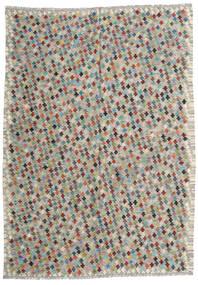Kilim Afghan Old Style Tappeto 210X287 Orientale Tessuto A Mano Grigio Chiaro/Grigio Scuro (Lana, Afghanistan)
