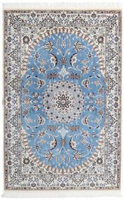Nain 9La Tappeto 135X206 Orientale Fatto A Mano Grigio Chiaro/Azzurro (Lana/Seta, Persia/Iran)