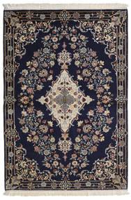 Isfahan Ordito In Seta Tappeto 112X160 Orientale Fatto A Mano Porpora Scuro/Grigio Chiaro/Grigio Scuro (Lana/Seta, Persia/Iran)