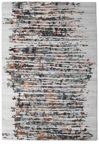 Damask Collection Tappeto 159X230 Moderno Fatto A Mano Grigio Chiaro/Marrone Scuro ( India)