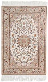 Isfahan Ordito In Seta Firmato Mazaheri Tappeto 108X163 Orientale Fatto A Mano Grigio Chiaro/Bianco/Creme (Lana/Seta, Persia/Iran)