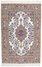 Isfahan Ordito In Seta Firmato Intashari Tappeto 109X166 Orientale Fatto A Mano Grigio Chiaro/Bianco/Creme (Lana/Seta, Persia/Iran)