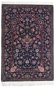 Isfahan Ordito In Seta Tappeto 110X160 Orientale Fatto A Mano Nero/Porpora Scuro (Lana/Seta, Persia/Iran)