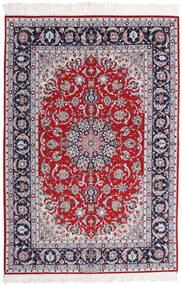 Isfahan Ordito In Seta Firmato Ansari Tappeto 158X237 Orientale Fatto A Mano Violet Clair/Grigio Scuro (Lana/Seta, Persia/Iran)