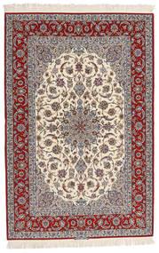 Isfahan Ordito In Seta Firmato Entashari Tappeto 161X241 Orientale Fatto A Mano Beige/Grigio Chiaro/Marrone Scuro (Lana/Seta, Persia/Iran)