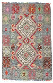 Kilim Afghan Old Style Tappeto 98X152 Orientale Tessuto A Mano Grigio Chiaro/Grigio Scuro (Lana, Afghanistan)