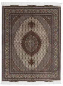 Tabriz 60 Raj Ordito In Seta Tappeto 156X198 Orientale Fatto A Mano Marrone Scuro/Grigio Scuro (Lana/Seta, Persia/Iran)