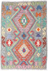 Kilim Afghan Old Style Tappeto 86X124 Orientale Tessuto A Mano Grigio Chiaro (Lana, Afghanistan)