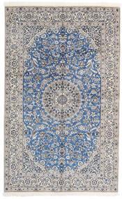 Nain 9La Tappeto 156X252 Orientale Fatto A Mano Grigio Chiaro/Bianco/Creme (Lana/Seta, Persia/Iran)