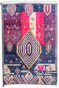 Berber Moroccan - Mid Atlas Tappeto 216X315 Moderno Fatto A Mano Rosa/Bianco/Creme (Lana, Marocco)