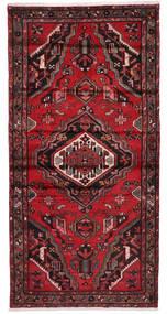 Hamadan Tappeto 100X202 Orientale Fatto A Mano Rosso Scuro/Marrone Scuro/Rosso (Lana, Persia/Iran)