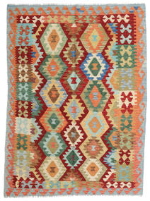 Kilim Afghan Old Style Tappeto 150X203 Orientale Tessuto A Mano Rosso/Beige Scuro (Lana, Afghanistan)