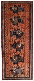 Afshar Tappeto 107X265 Orientale Fatto A Mano Alfombra Pasillo Marrone Scuro/Rosso (Lana, Persia/Iran)