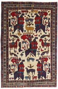 Afshar Tappeto 126X188 Orientale Fatto A Mano Grigio Scuro/Rosso Scuro (Lana, Persia/Iran)