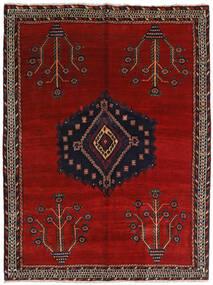 Afshar Tappeto 157X209 Orientale Fatto A Mano Rosso Scuro/Rosso (Lana, Persia/Iran)