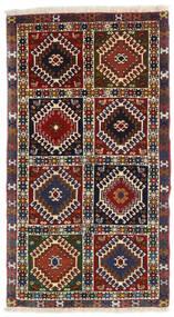 Yalameh Tappeto 60X105 Orientale Fatto A Mano Rosso Scuro/Nero (Lana, Persia/Iran)