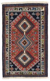 Yalameh Tappeto 60X99 Orientale Fatto A Mano Grigio Scuro/Rosso Scuro (Lana, Persia/Iran)