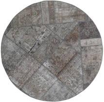 Patchwork - Persien/Iran Tappeto Ø 150 Moderno Fatto A Mano Rotondo Grigio Chiaro/Grigio Scuro (Lana, Persia/Iran)