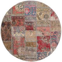 Patchwork - Persien/Iran Tappeto Ø 150 Moderno Fatto A Mano Rotondo Marrone/Grigio Chiaro (Lana, Persia/Iran)