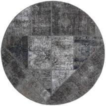 Patchwork - Persien/Iran Tappeto Ø 150 Moderno Fatto A Mano Rotondo Grigio Scuro/Grigio Chiaro/Nero (Lana, Persia/Iran)