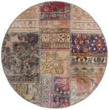 Patchwork - Persien/Iran Tappeto Ø 100 Moderno Fatto A Mano Rotondo Grigio Chiaro/Marrone Chiaro (Lana, Persia/Iran)