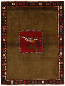 Ghashghai Tappeto 130X170 Orientale Fatto A Mano Marrone/Marrone Scuro (Lana, Persia/Iran)
