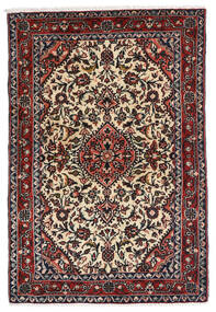 Hamadan Tappeto 83X122 Orientale Fatto A Mano Nero/Marrone Scuro (Lana, Persia/Iran)