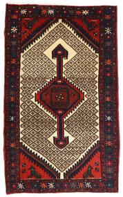 Hamadan Tappeto 82X132 Orientale Fatto A Mano Marrone Scuro/Rosso Scuro (Lana, Persia/Iran)
