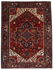 Heriz Tappeto 212X278 Orientale Fatto A Mano Rosso Scuro/Marrone Scuro (Lana, Persia/Iran)