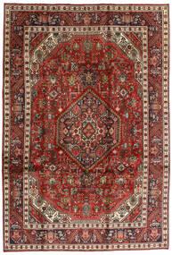 Tabriz Tappeto 198X292 Orientale Fatto A Mano Marrone Scuro/Rosso Scuro (Lana, Persia/Iran)