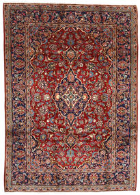 Keshan Tappeto 196X275 Orientale Fatto A Mano Rosso Scuro/Marrone Scuro (Lana, Persia/Iran)