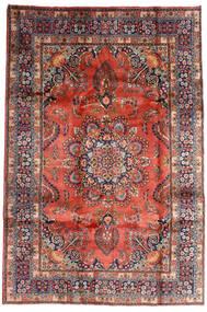 Mashad Tappeto 196X290 Orientale Fatto A Mano Rosso Scuro/Porpora Scuro (Lana, Persia/Iran)