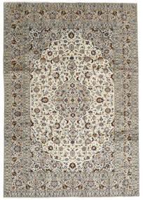 Keshan Tappeto 246X352 Orientale Fatto A Mano Grigio Chiaro/Grigio Scuro (Lana, Persia/Iran)
