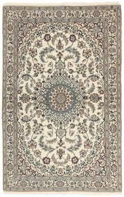 Nain 9La Tappeto 115X186 Orientale Fatto A Mano Grigio Chiaro/Beige (Lana/Seta, Persia/Iran)