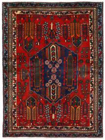 Afshar Tappeto 162X224 Orientale Fatto A Mano Rosso Scuro/Marrone Scuro (Lana, Persia/Iran)