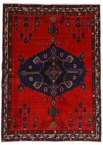 Afshar Tappeto 164X225 Orientale Fatto A Mano Nero/Ruggine/Rosso/Rosso Scuro (Lana, Persia/Iran)