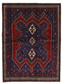 Afshar Tappeto 175X232 Orientale Fatto A Mano Blu Scuro/Rosso Scuro (Lana, Persia/Iran)