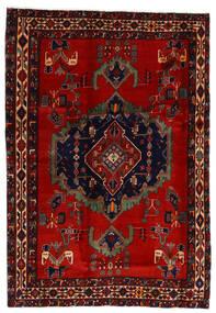 Afshar Tappeto 169X243 Orientale Fatto A Mano Rosso Scuro/Ruggine/Rosso (Lana, Persia/Iran)