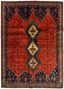 Afshar Tappeto 176X248 Orientale Fatto A Mano Marrone Scuro/Ruggine/Rosso (Lana, Persia/Iran)