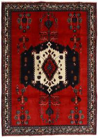 Afshar Tappeto 188X261 Orientale Fatto A Mano Nero/Ruggine/Rosso/Rosso Scuro (Lana, Persia/Iran)