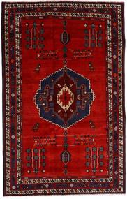 Afshar Tappeto 157X248 Orientale Fatto A Mano Rosso Scuro/Ruggine/Rosso (Lana, Persia/Iran)