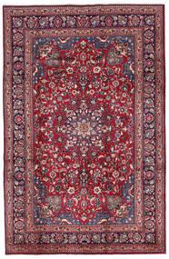 Mashad Tappeto 197X300 Orientale Fatto A Mano Porpora Scuro/Rosso Scuro (Lana, Persia/Iran)