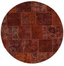 Patchwork - Persien/Iran Tappeto Ø 200 Moderno Fatto A Mano Rotondo Marrone Scuro/Rosso Scuro (Lana, Persia/Iran)