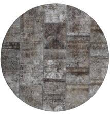 Patchwork - Persien/Iran Tappeto Ø 200 Moderno Fatto A Mano Rotondo Grigio Scuro/Grigio Chiaro (Lana, Persia/Iran)