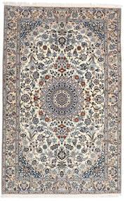 Nain 9La Tappeto 160X251 Orientale Fatto A Mano Grigio Chiaro/Bianco/Creme (Lana/Seta, Persia/Iran)