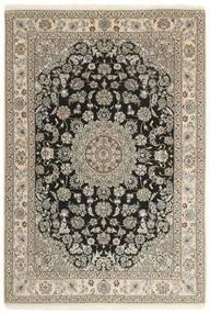 Nain 9La Tappeto 147X210 Orientale Fatto A Mano Grigio Chiaro/Beige (Lana/Seta, Persia/Iran)